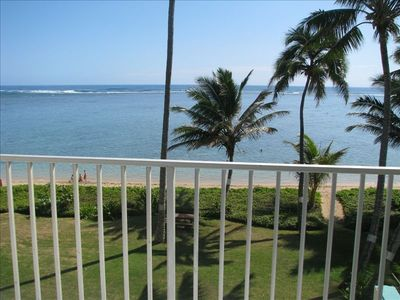 Photo for Pat's at Punaluu, Beachfront Condo  *Short Term rental permitted