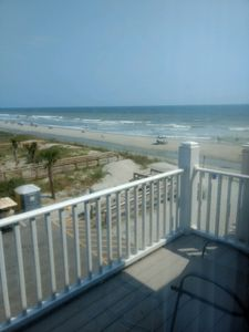 Beach view from Master BR sundeck