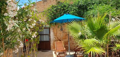 "Photo for Apartment ""Can Hobbit"" on finca, air conditioning, 2 terraces, near Es Trenc"