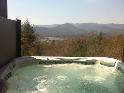 Beautiful view of Lake Chatuge, Mountains of Brasstown Bald and sunsets from spa