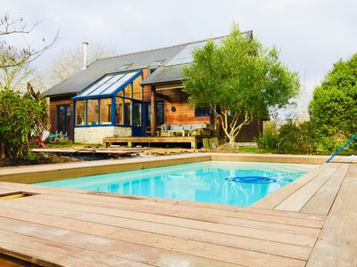 Photo for THE CABANON BRETON *** - Ecogîte with SWIMMING POOL near SAINT-MALO, MONT-ST-MICHEL