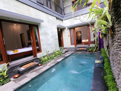 Photo for 3 bedroom kubu Aria ubud bali
