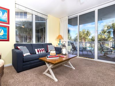 Photo for Great August-Sept Rates!! Lovely Corner Condo! Lazy River,  Bch Srvc, Wifi, Pool