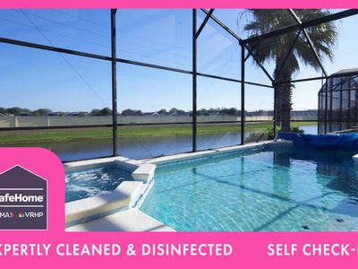 Photo for Modern Pool Home, 3 Master Suites, Lake View & Games Rm Disney 3 Miles | Minnie's Marvel