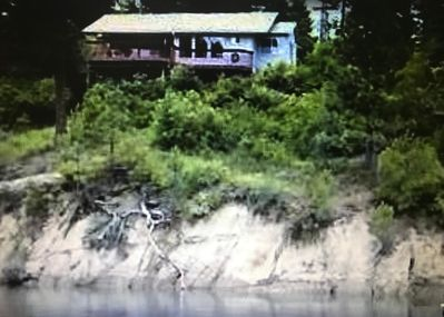 View of the cabin from the water