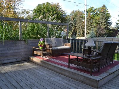 Photo for Great location! Large, private fully fenced yard with deck and HOT TUB!!