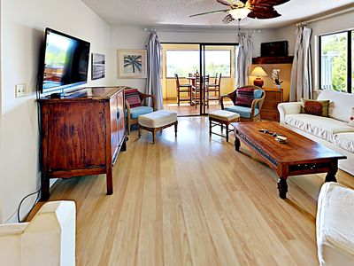Second Floor - Living room - Enjoy your favorite shows, and even HBO, on this new flatscreen TV.