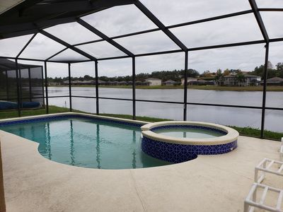 Photo for Fantastic Lake View Pool Home near Disney Pet Friendly