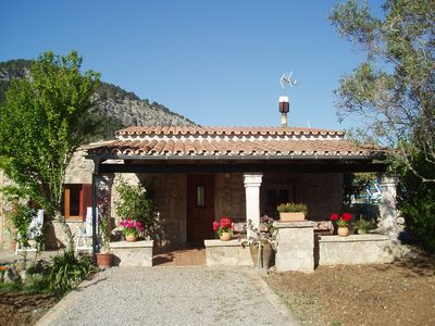 Photo for COUNTRY VILLA , PRIVATE POOL, A/C, FREE WIFI, BBQ, VIEWS 5 MINUTES FROM POLLENSA