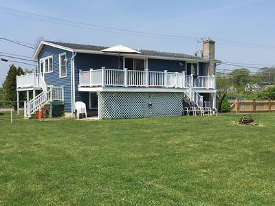 Photo for Steps to Good Harbor Beach, 5 Bedrooms, Large Deck, Fire Pit