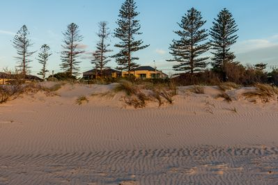 View of Sunset on Semaphore from the beach