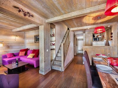 Photo for Chatelard 210 : Beautiful duplex apartment offering ski-in ski-out