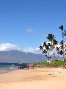 Kamaole Beach & West Maui Mountains just steps away.