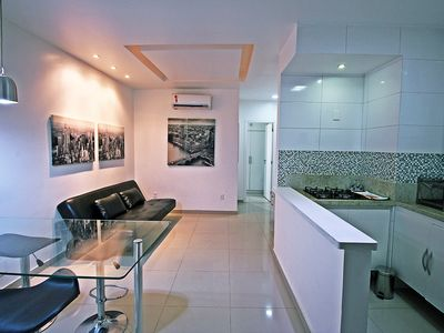 Photo for Modern apartment for the season in Rio de Janeiro, just a few steps from the beach
