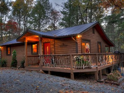 Photo for Tranquilty and Peace at this Mountain Cabin -  a stones throw to Toccoa River