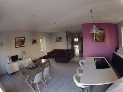 Photo for IDEALLY LOCATED GD APARTMENT, PARKING & PRIVATE TERRACE, JACCUZI, QUIET, DOMLOC