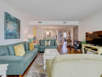 Photo for Contemporary condo with shared pool/hot tub & patio overlooking grounds!