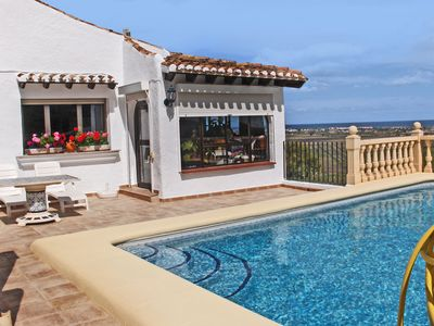 Photo for This 2-bedroom villa for up to 4 guests is located in Pego and has a private swimming pool and Wi-Fi