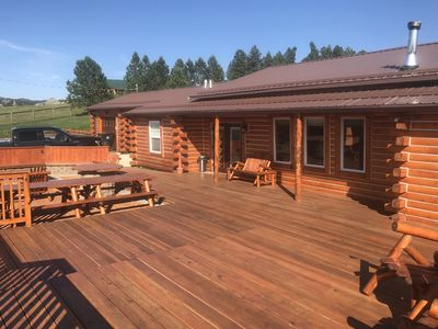 Photo for Crazy Horse Monument View!  Log Cabin - luxury remodel 2019 with rustic appeal.