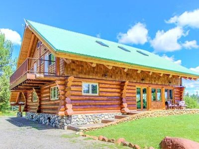 Photo for Gorgeous Modern Log Cabin- 5 Acres, Private Pond, Hot Tub, Game Room