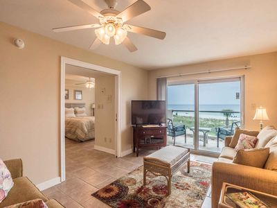 Photo for Cozy Gulf Front Condo ~ Private Balcony With Incredible Beach Views~ Steps to th