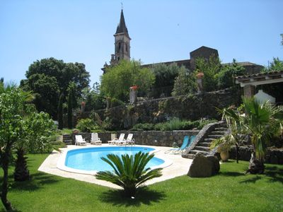 Photo for Old House of charm with swimming pool and panoramic view between Etna and sea