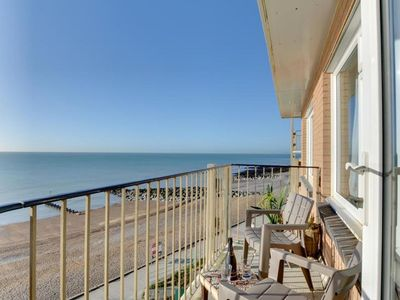 Photo for Beautiful apartment with sea view and balcony, near shops and pubs
