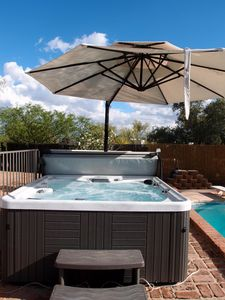 Brand new 7 person hot tub on upper pool deck.