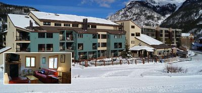 Ski in/out 2 bedroom + LOFT Sleeps up to 8. Modern amenities.