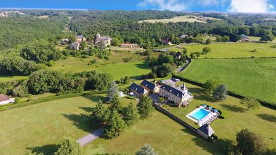 Photo for Spectacular 5 Star, 18C French MANOR with 6 bedrooms, Large heated pool & Sauna