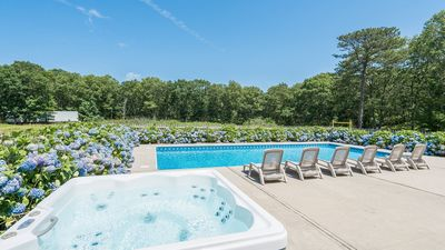 Photo for Amenities Galore: Southampton Home at the Edge of a 200-Acre Preserve, Huge Yard, Pool, Hot Tub