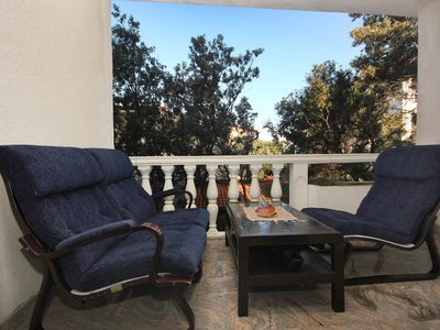 Photo for Two bedroom apartment with terrace Mandre, Pag (A-522-e)