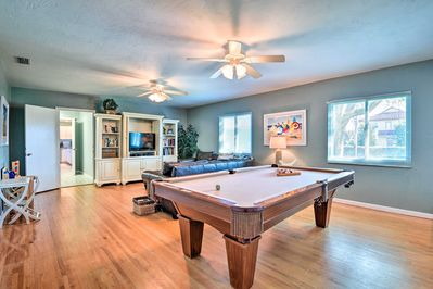 Play pool with your crew or watch a movie in the game room.