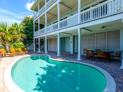 Photo for WATERFRONT Home on Florida Bay with private heated pool