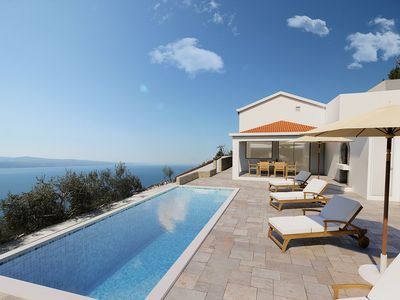 Photo for NEW! Villa Dream with private pool, 2 bedrooms with en-suite bathrooms, sea view