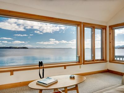Photo for Water's Edge - Oceanfront Home with Water and Acadia Mountiain Views