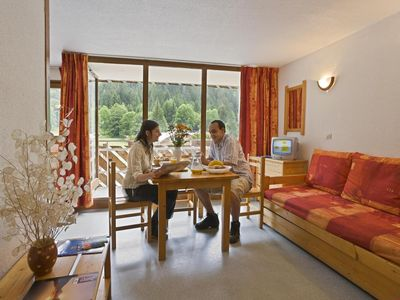 Photo for Surface area : about 26 m². Living room with pull-out sofa. Bedroom with double bed