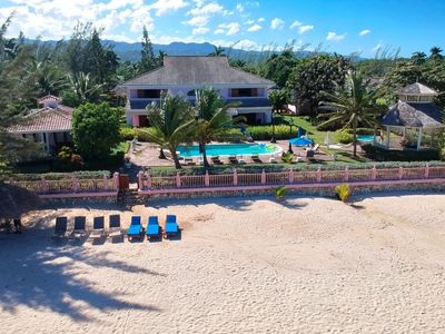Photo for Luxury Beach Front Villa with 5 Staff and Private Coach and Driver