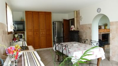 Photo for In the height of the village, quiet, house that sleeps 8 people.