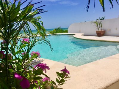 Photo for Beachfront Villa Tranquilita 3Bd/3Ba POOL,WiFi ,4 ACs, Private collection