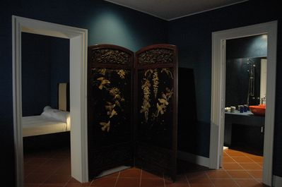 room and bathroom view