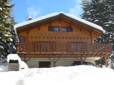 Photo for Chalet located in the saddle point of Corbier 400m from the trails of Drouzin