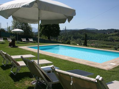 Photo for Holiday Apartment I Cipressi - House in the countryside with swimming pool and wonderful view