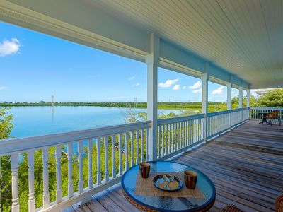 Waterfront Home on Florida Bay with private heated pool in Key Cove Landings