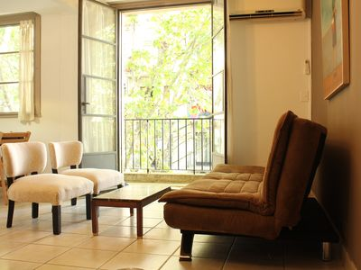 Photo for Bright 4th-floor 1 bedroom apartment in Palermo Hollywood