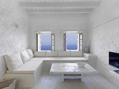Photo for A beautiful restored atmospheric villa in the volcanic island of Nisyros