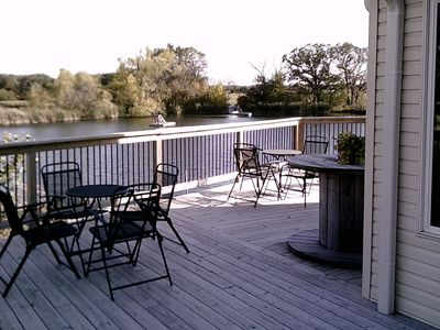 Winery Loft with views of the pond, and vineyard.  New in 2012