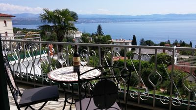 Photo for Villa Allegra in Lovran, Standard Apartment 105, Balcony-Sea view