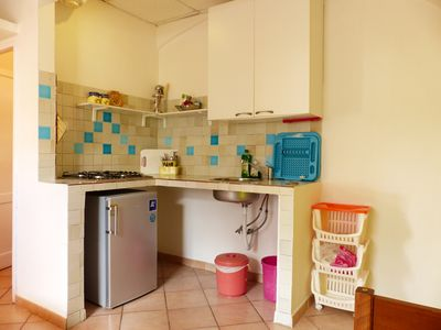 Photo for Large one bedroom apartment for 3 people located in a small building surrounded by greenery