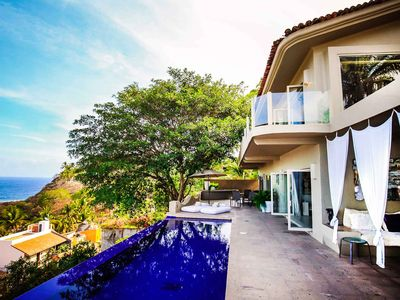 Photo for Canto Del Mar - Ocean View, Infinity Pool Just Steps From The Beach - San Pancho